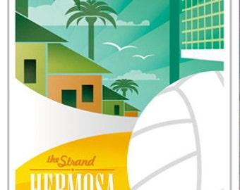 5x7 Greeting Card - Hermosa Beach California