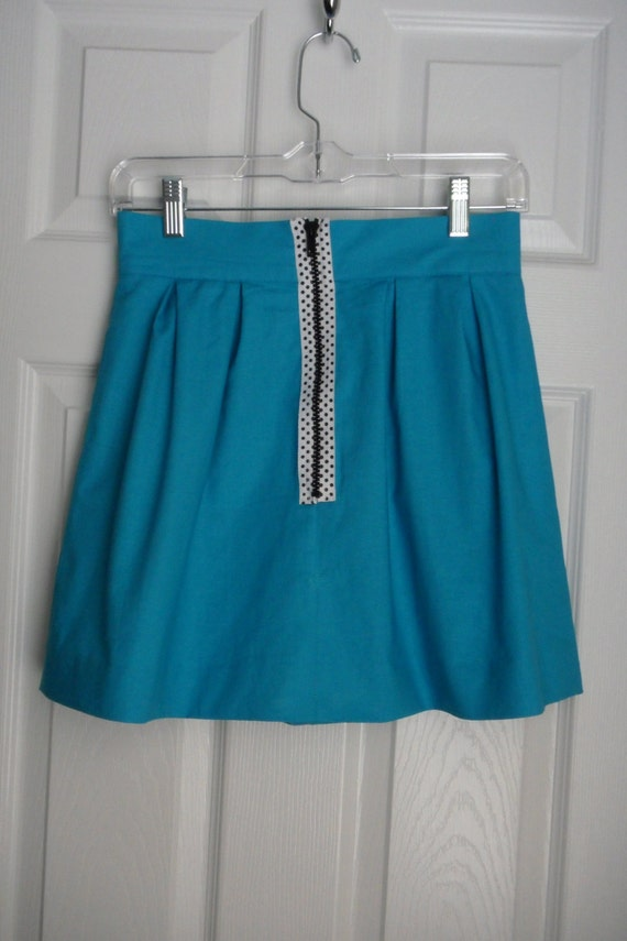 Kathryn Skirt Blue with Polka Dot Zip