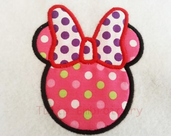 Minnie Applique Embroidery Design