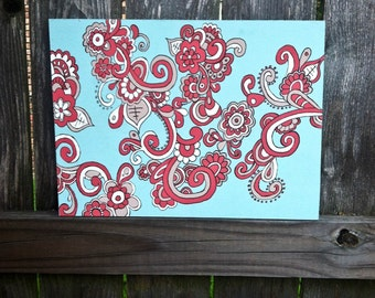 Paisley Painting, 12x15 Wooden Sign