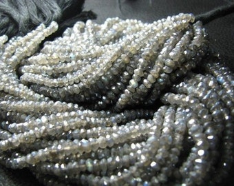 Big Sale 65% Off Full 13 Inch X 10 Strand Sparkle Coated LABRADORITE 3.50 mm Approx Micro Faceted Rondelle beads.