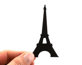 20 Eiffel Tower Die Cuts - Your Choice of Color