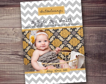 Baby annoucement FREE personalization