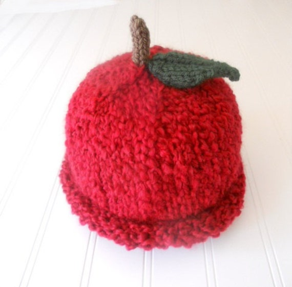KNIT PATTERN - Easy, Quick Newborn Baby Chunky Green Apple ...