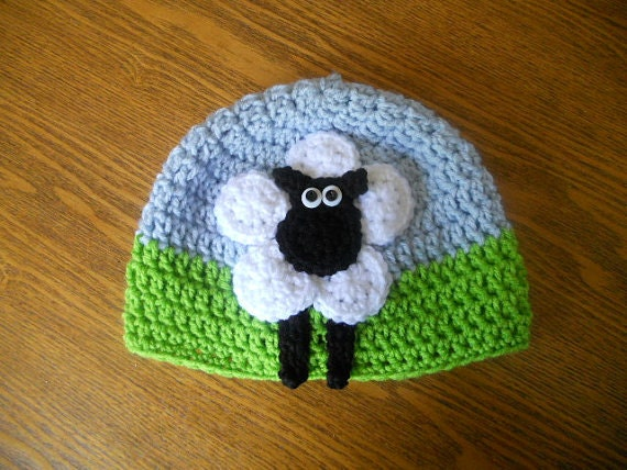 Crochet Pattern For Baby Lamb Hat : CROCHET PATTERN 6 Circle Sheep Hat PATTERN
