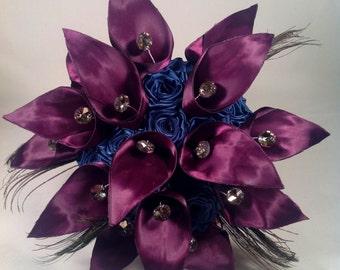 Purple Calla Lily Bridal Bouquet