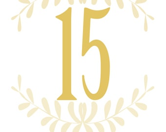 Table Number Signs for Weddings & Parties