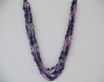 Mixed Berries Ladder Trellis Necklace
