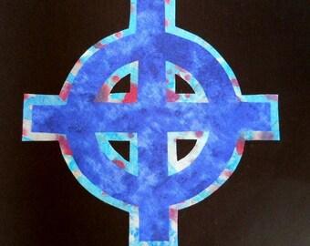 Easy Celtic Cross Quilt Applique Pattern Design