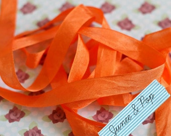 Orange Seam Binding Ribbon 5 metres