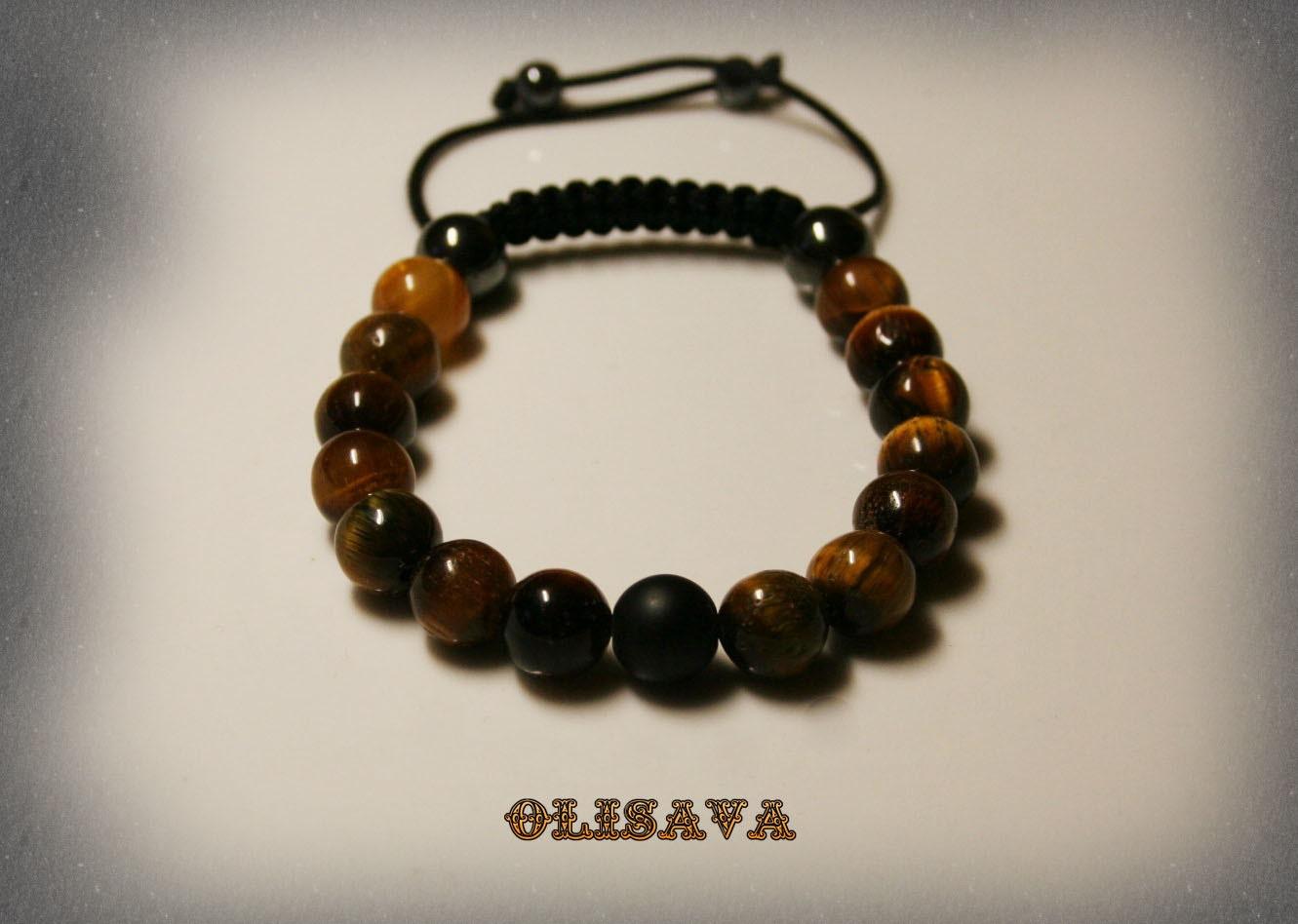 mens tiger s eye mala bracelet bracelet by olisava on