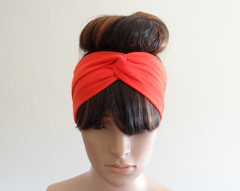 Orange Headband. Orange Head Wrap