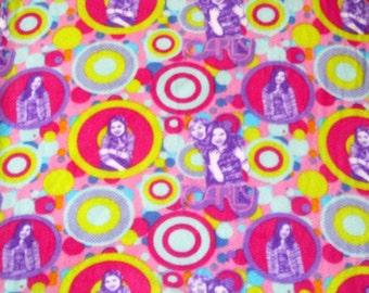 iCarly Fleece Fabric BTY RARE Miranda Cosgrove, Jennette McCurdy