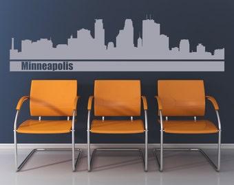Minneapolis skyline wall decal