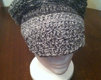 Gray newsboy hat