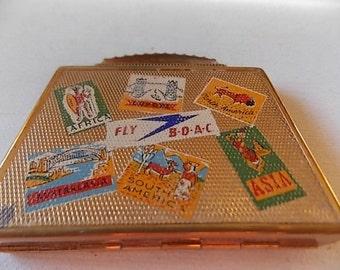 Vintage BOAC Adverts Mascot Compact