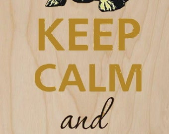 Keep Calm and Eat Chocolate - Plywood Wood Print Poster Wall Art WP - DF - CHOCOLATE 0151