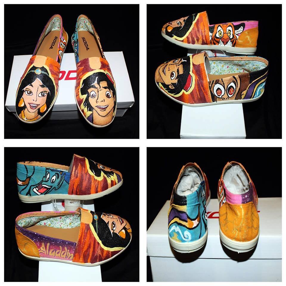 how to make aladdin shoes
