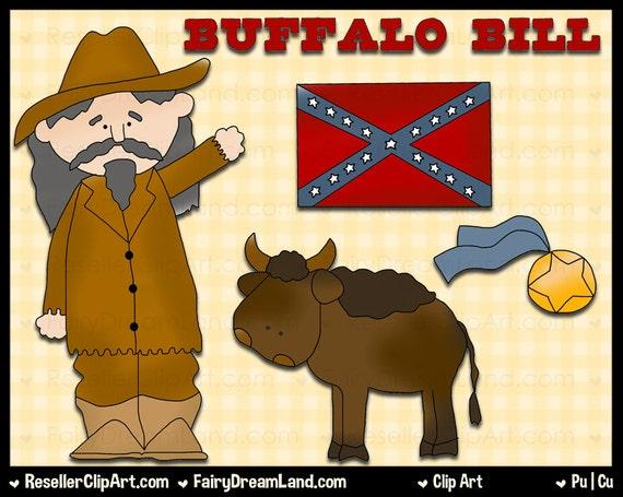 Buffalo Bill Digital Clip Art Commercial Use Graphic Image