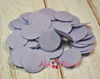 Lavender Felt Circle 35mm (3.5cm) - DIY craft felts