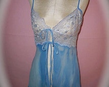 Sale was 48.00 now 24.00 Ready To Ship Upcycled Vintage Nightie,Hand Pained,Boudoir,Pin Up,Old Hollywood,Lace Night Gown,Vintage Slip,Grunge