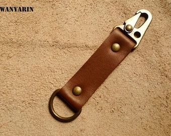 Leather keychain, leather key fob, Handmade Leather Key Fob, WR 009