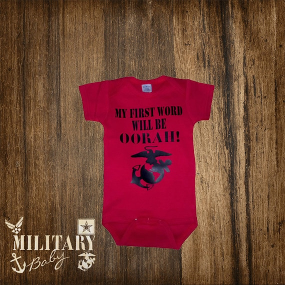 Items similar to Customizable Military Baby Clothing on Etsy