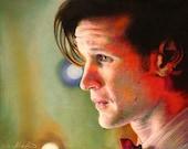 "Print of Raggedy Man, Goodnight Pastel Portrait, 11""x14"""