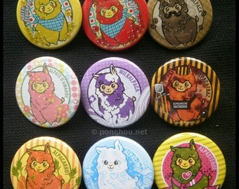 Pin buttons Alpacas 38mm