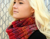 Watermelon color infinity scarf, Great gift, Warm winter cowl, Fun fashion accessory, Style different ways, Warm neck wrap, 35 dollars