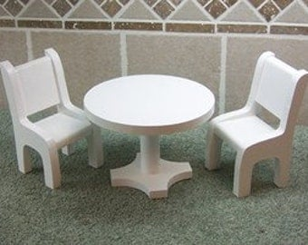 Table and 2 Chairs for Fashion Dolls