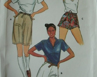 Misses Shorts size 10 Butterick Pattern 3908 Vintage 1980's
