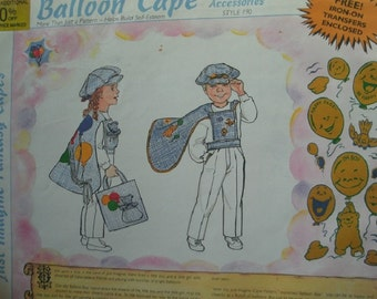 Sunrise Designs Just Imagine Fantasy Cape - Balloon Cape and Accessories Style 190 - UNCUT Pattern & Instructions. Has Iron-on's.