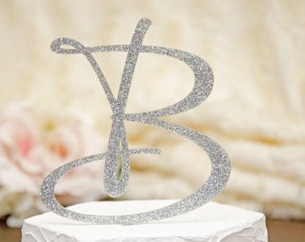 personalized monogram glitter wedding cake topper 6 inch monogram letter cake topper