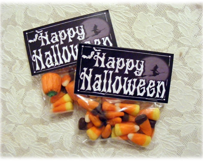 Halloween Candy  Treat Bag Toppers - DIY Printable Downloadable file - Instant Download