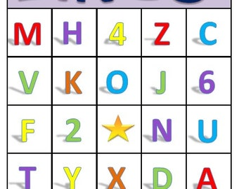 ABC & 123 Bingo for Preschoolers - Printable Download