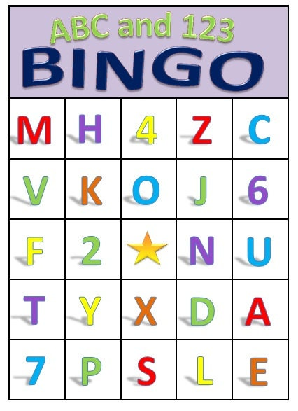 Make Bingo Cards With Letters