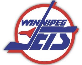 """Winnipeg Jets Fan NHL Hockey sticker decal 5"""" x 4"""""""