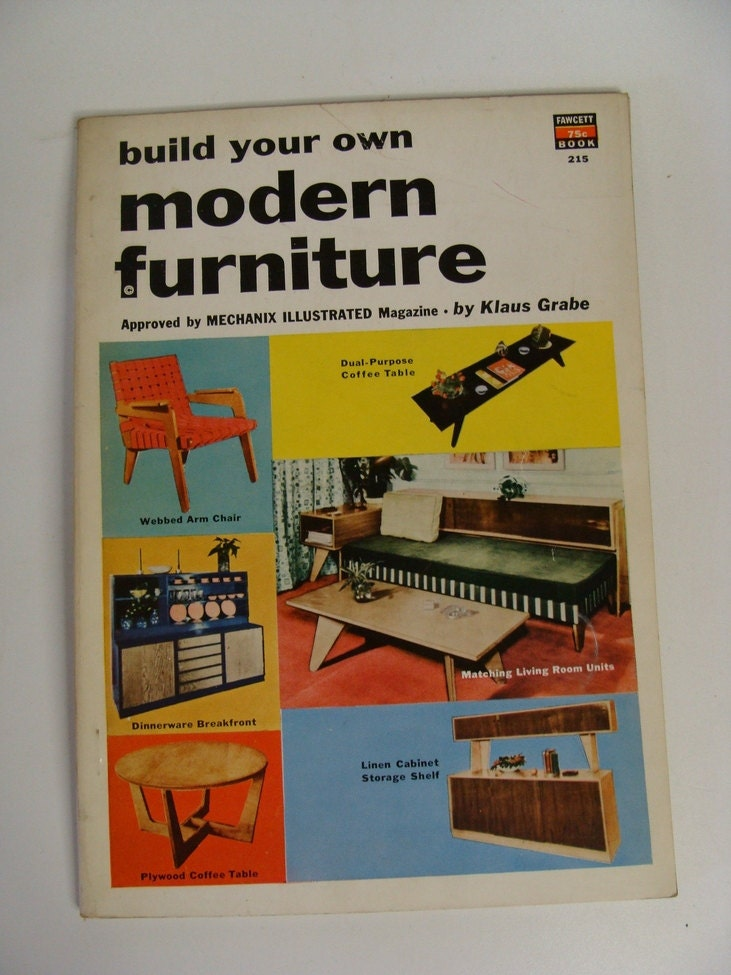 build your own modern furniture vintage 1954 how to book. Black Bedroom Furniture Sets. Home Design Ideas
