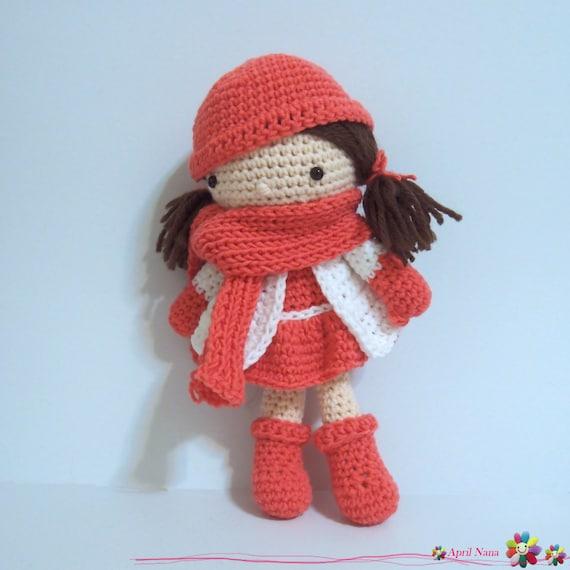 Amigurumi Hello Kitty Crochet Pattern : Girl in red crochet Pattern Amigurumi cute