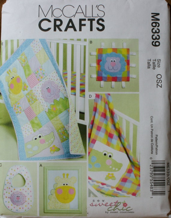 McCalls M6339 Baby Quilt Sewing Pattern New/Unused