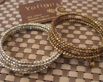 Multi rows bracelet- bids spirals