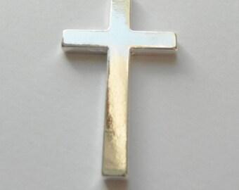 Large Tibetan Silver Cross Pendants 52mm 4mm thick