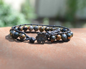 Black Multi-Color Wrap Bracelet