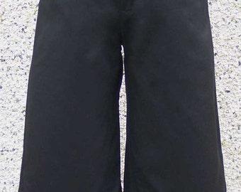 Black Cotton Ruffle Gauchos Small UK6