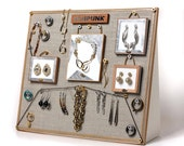 Jewelry Organizer for Earrings, Rings, Necklaces and Bracelets . Jewelry Display Stand // SO1005