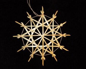 Straw Star Snowflake (single)