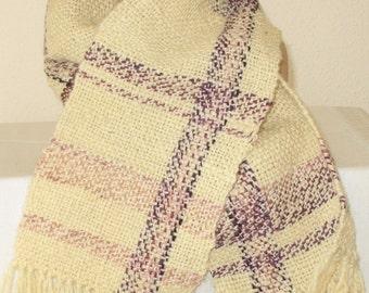 scarf, white scarf, ivory scarf, hand woven scarf,  neckwarmer, cowl, wool, woven, ski scarf, handmade scarf, handmade cowl, accessories