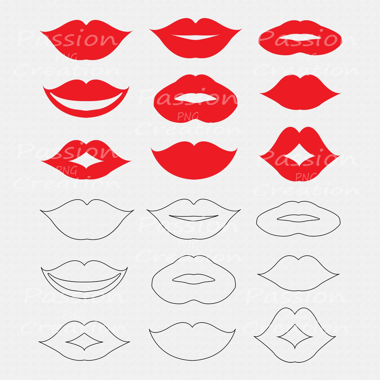 Peaceful image regarding printable lips