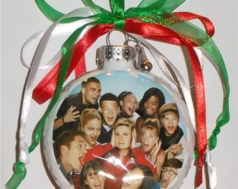 glee inspired Tribute Christmas Ornament 1